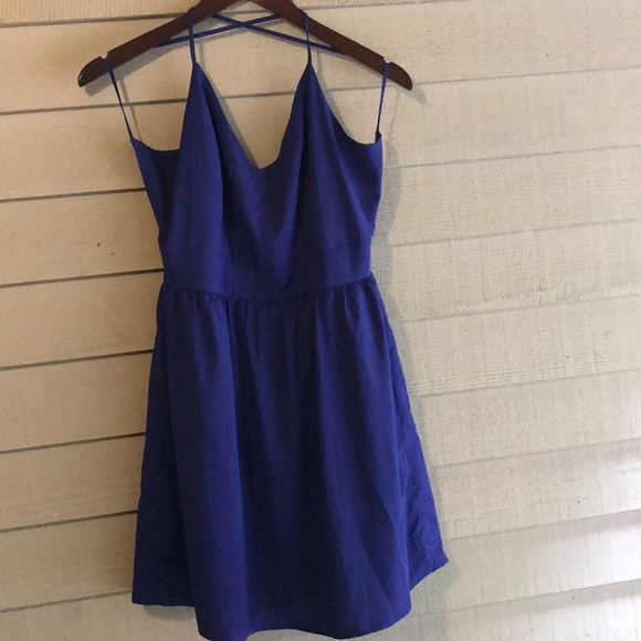 Tobi Dresses & Skirts - Cross Back Blue Summer Dress - Small